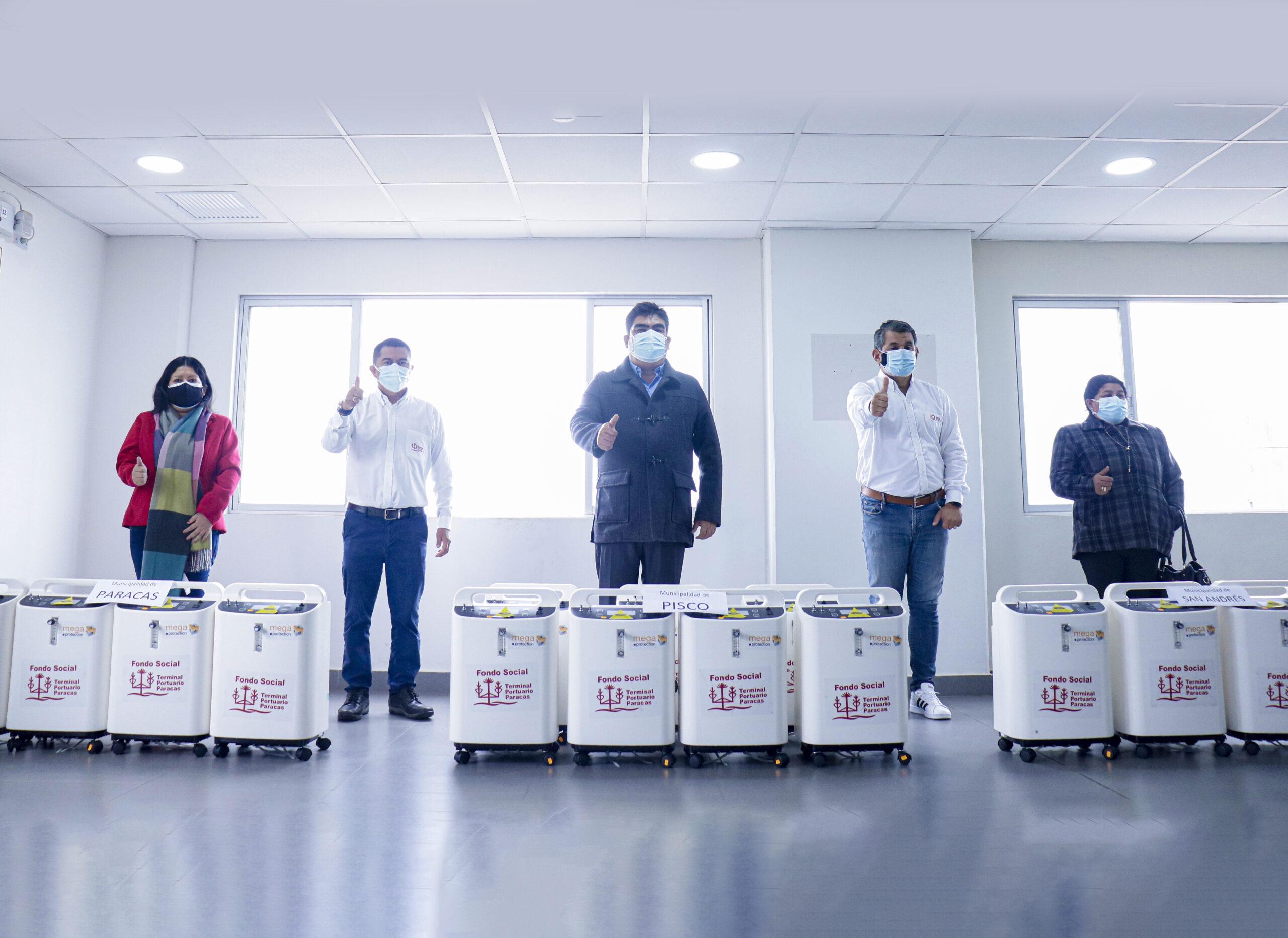 entrega 25 concentradores de oxígeno